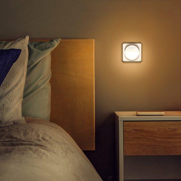 Plug-in LED nočné svetlo - BlitzWolf® BW-LT10 Plug-in LED nočné svetlo s úsporným úsporným snímačom, odpočítavanie, nízka spotreba, 3000K farebná teplota