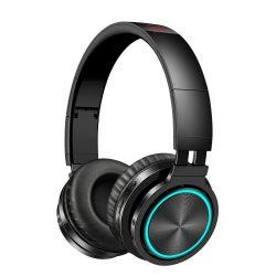 Grafické slúchadlá BlitzWolf® AIRAUX AA-ER1 bluetooth V5.0 s dýchacím svetlom, 40 mm dynamické ovládače, skladacie herné slúchadlá na uši - čierne