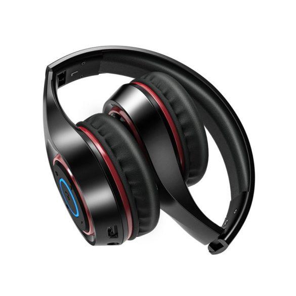 Grafické slúchadlá BlitzWolf® AIRAUX AA-ER2 bluetooth V5.0 s dýchacím svetlom, 40 mm dynamické ovládače, skladacie herné slúchadlá na uši - čierne