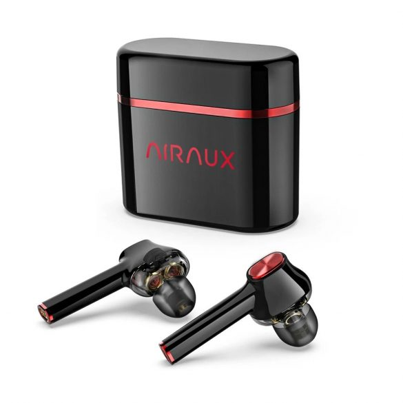 BlitzWolf® AirAux AA-UM5 - dual dynamické slúchadlá. Dotykové ovládanie, IPX5 - čierno-červené