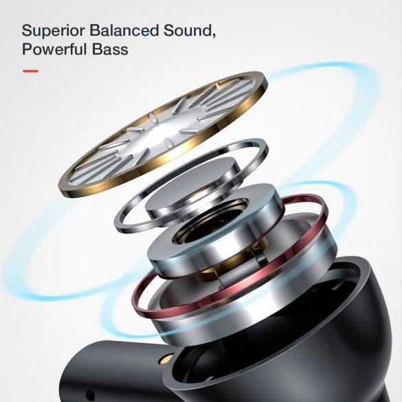 Slúchadlá BlitzWolf® AirAux AA-UM7 - HiFi stereofónne basy, bluetooth 5.0, dotykové ovládanie, IPX5 - čierne