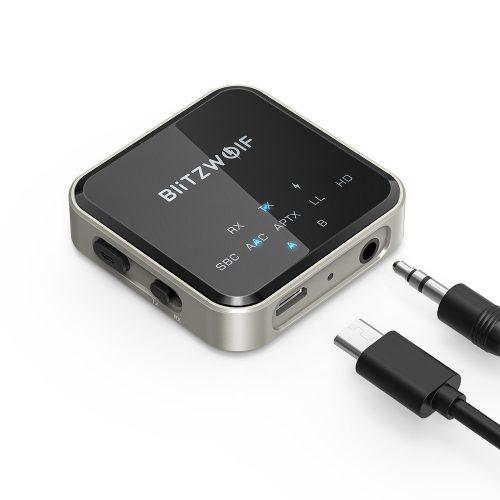 Bluetooth audio adaptér BlitzWolf® BW-BL3 -CSR Superior Chip, ANC technológia, dlhá životnosť, LED svetlo