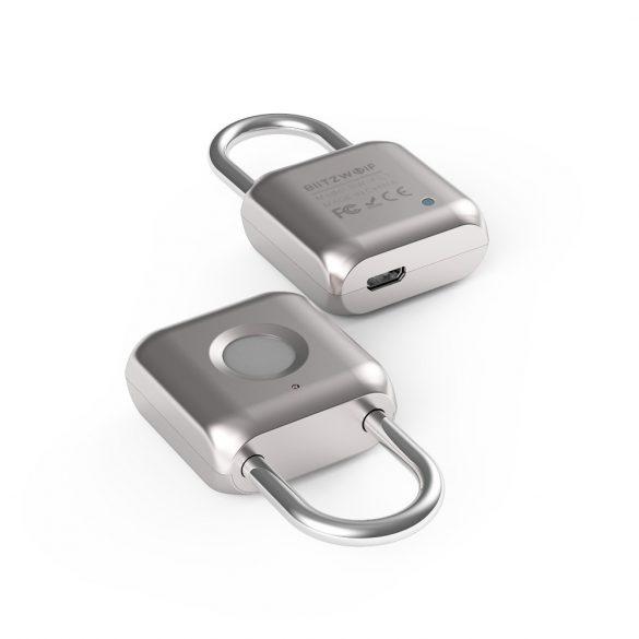 Inteligentný visací zámok BlitzWolf® BW-FL1 s čítačkou odtlačkov prstov