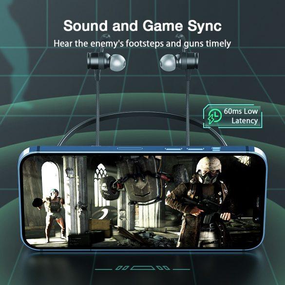 Bluetooth slúchadlá BlitzWolf® BW-FLB1 na zavesenie na krk - dynamický ovládač, silné basy, režim nízkeho oneskorenia, svetlo RGB, dlhá výdrž batérie