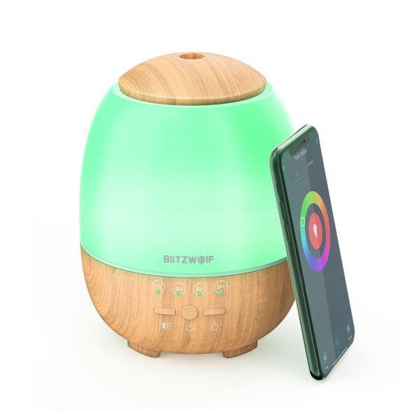 BlitzWolf®BW-FUN3 - Inteligentný rozptyľovač arómy - ovládanie aplikácií, farebné svetlo, hlasové ovládanie