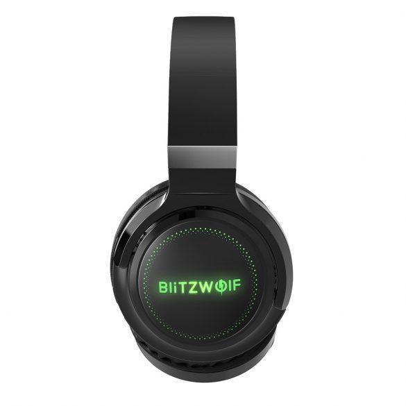 Slúchadlá BlitzWolf® BW-HP0 Pro - doba prehrávania 42 hodín, zvukový systém HiFi, osvetlenie RGB