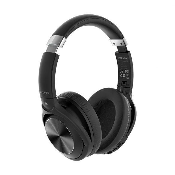 BlitzWolf® BW-HP3 - Slúchadlá Bluetooth - mikrofón s potlačením hluku, 40 mm reproduktor, 10 hodín prevádzky, hlboké basy, stereofónny zvuk