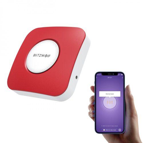 BlitzWolf® BW-IS11 Inteligentný sirénový alarm Wi-Fi-zvuk alarmu 90 dB, ovládanie APP, napájanie USB