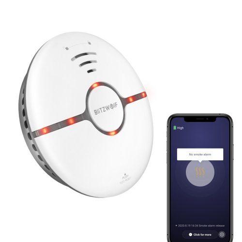 Smart detektor dymu Blitzwolf® BW -IS7 - alarm ≥85 dB, alarm pre aplikáciu, pre oblasť 30㎡