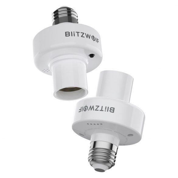 Držiak adaptéra na inteligentnú žiarovku WIFI BlitzWolf®BW-LT30 E27, aplikácia a hlasové ovládanie