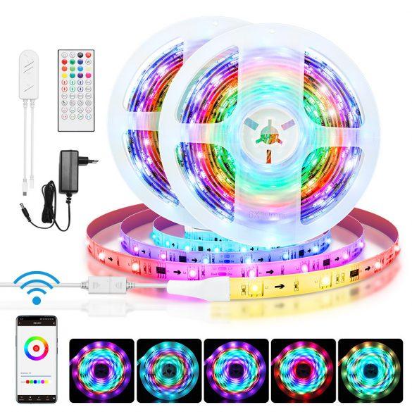 Inteligentný LED pásik BlitzWolf® BW-LT31 - dlhý 5 m / 10 m, diaľkové ovládanie aplikácií a IR, hudobný režim, rôzne svetelné efekty