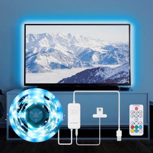 Sada BlitzWolf® BW-LT32 2M USB RGB TV Strip Light Kit