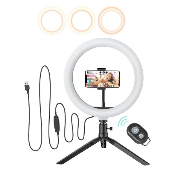 LED Ring; kruhové svetlo + telefón stojan Blitzwolf BW-SL3