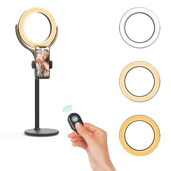 LED Ring; kruhové svetlo + telefón stojan Blitzwolf BW-SL4