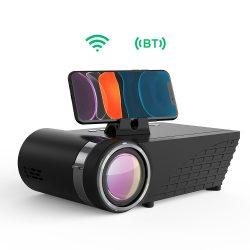 Projektor pre domáce kino - Projektor BlitzWolf® BW-VP8 s zrkadlom obrazovky telefónu, bezdrôtovým pripojením, rozlíšením 720P, 5500 lúmenov, viacerými portami a zvukom Dolby