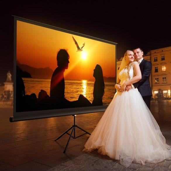BlitzWolf® BW-VS1 - Projector mobilná trojnožka, 2214×1245mm, 16:9