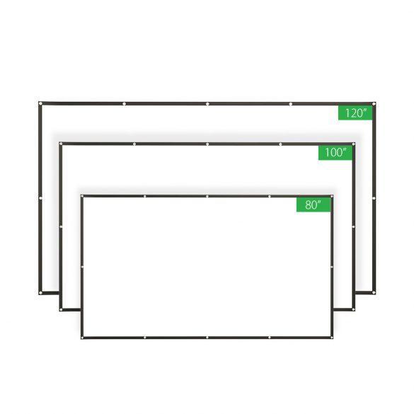 Prenosná projekčná obrazovka BlitzWolf® BW-VS2 pre 80-palcovú projekciu 16: 9