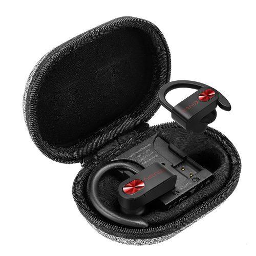 BlitzWolf® AIRAUX AA-UM1 True Wireless Bezdrôtové bluetooth 5.0 Slúchadlá Hi-Fi Stereo s nabíjačkou - čierne