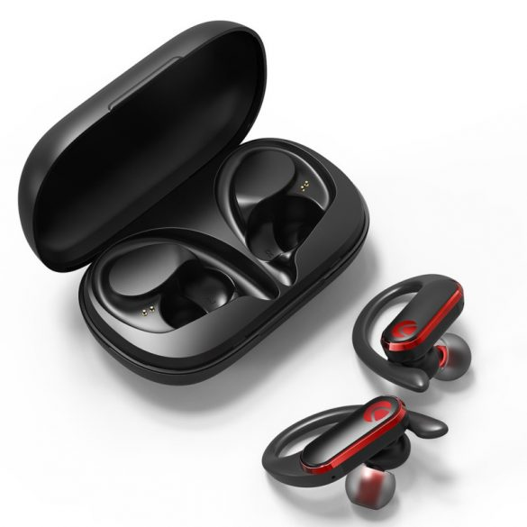 BlitzWolf® AIRAUX AA-UM3 True Wireless Bezdrôtové bluetooth 5.0 Slúchadlá Hi-Fi Stereo s nabíjačkou - čierne