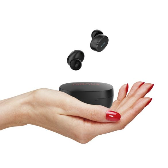 BlitzWolf® AIRAUX AA-UM4 True Wireless Bezdrôtové bluetooth 5.0 Slúchadlá Hi-Fi Stereo s nabíjačkou - čierne