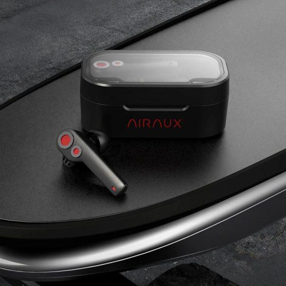 BlitzWolf® AirAux AA-UM6 TWS bluetooth 5.0 dvojité dynamické ovládače pre True Wireless slúchadlá IPX5, dotykové ovládanie, typ C, čierny