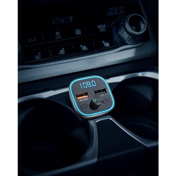 BlitzWolf® BW-BC1 - USB zapaľovač do auta a FM vysielač