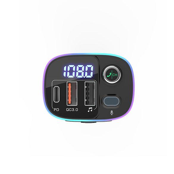 BlitzWolf® BW-BC2 - USB zapaľovač do auta a FM vysielač