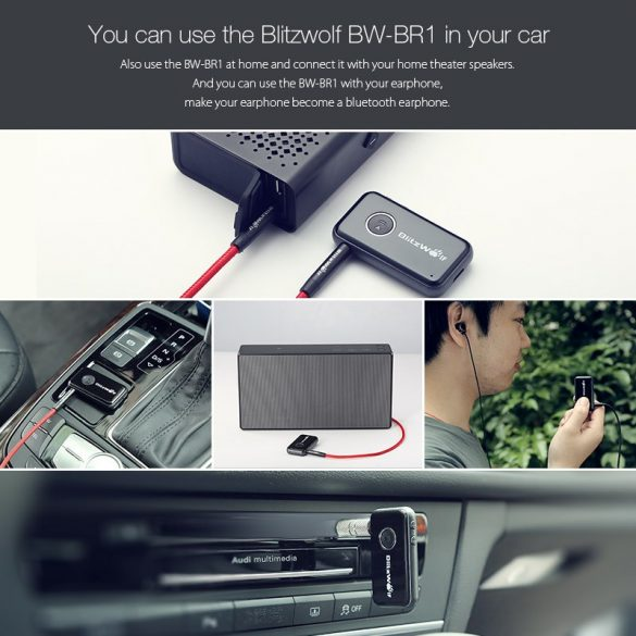 BlitzWolf® BW-BR1 Bluetooth prijímač s jack výstupom
