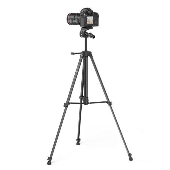 """Tripod pre fotoaparáty a smartfóny BlitzWolf® BW-BS0 Pro so stabilným statívom, odnímateľnou 1/4 """"platňou, nastaviteľnou výškou, širokou kompatibilitou, diaľkovým ovládaním"""