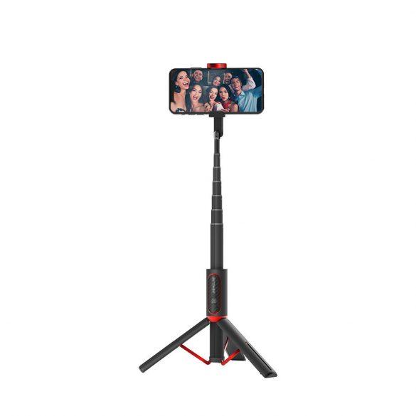 Prenosný selfie stick BlitzWolf® BW-BS10, všetko v jednom, s výsuvným statívom, skrytou svorkou do telefónu, do dĺžky 720 mm, odnímateľné diaľkové ovládanie