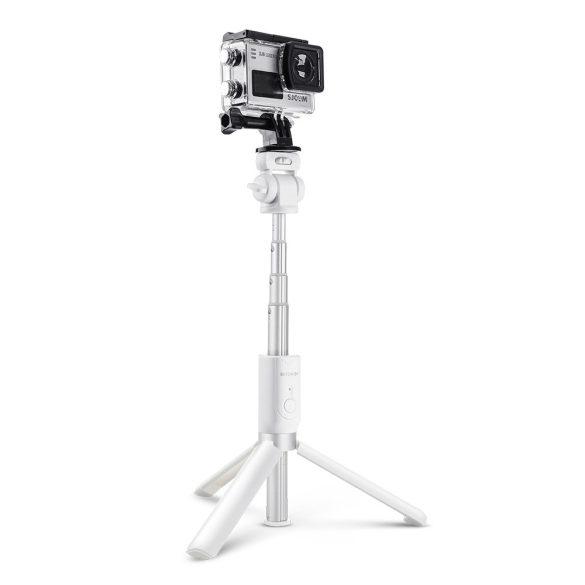 BlitzWolf BW-BS3 biela ministatív na telefón s diaľkovým ovládaním a selfie tyč v jednom (3v1)