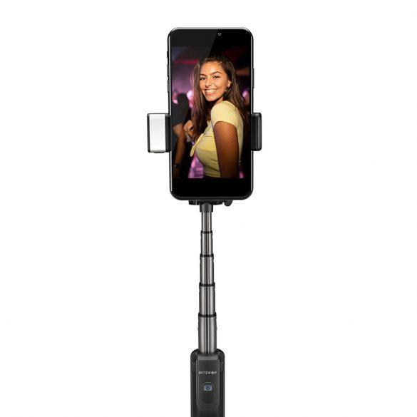 Selfie tripod s blesk - BlitzWolf® BW-BS8 samolepka + stojan + vstavané diaľkové ovládanie