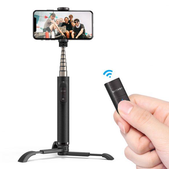 BlitzWolf BW-BS9 ministatív na telefón s diaľkovým ovládaním a selfie tyč v jednom (3v1)