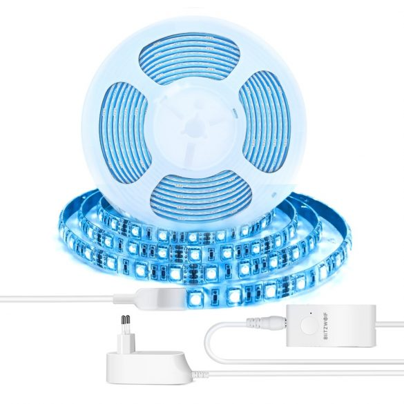 Smart LED svetelný prúžok - BlitzWolf® BW-LT11 Smart LED svetelný prúžok s farebnou teplotou 4000K, farba RGB, pracuje s Alexa a asistentom Google, APP Control, IP44 odolný voči vode