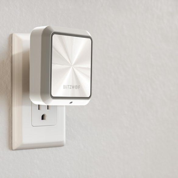 Plug-In Night Light + Dual USB nabíjačka BlitzWolf® BW-LT14 Nočné svetlo s Dusk to Dawn Sensor, zdvojené USB nabíjacie porty, 2200K teplé svetlo, dotykové ovládanie