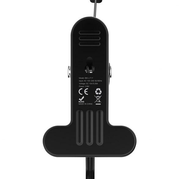 Flexibilná svorková sviečka BlitzWolf® BW-LT17 s pevnou svorkou, 3 úrovne jasu, teplota farby 4000 K, ochrana očí, dotykové tlačidlo, voľný uhol