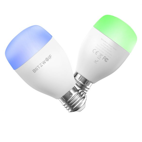 Smart žiarovka Wifi + infra red - BlitzWolf® BW-LT27, E27, 850lm, 9W, 2700-6500K, ovládanie aplikácií