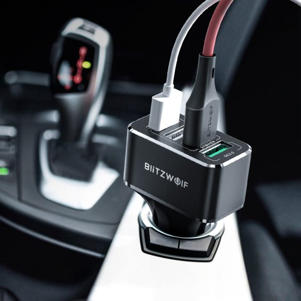 BlitzWolf® BW-SD3 50W autonabíjačka - QC3.0; Power3S Tech