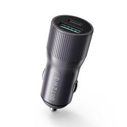 36 W QC3.0 + nabíjačka do auta USB typu C - BlitzWolf® BW-SD4 36 W QC3.0 PD2.0 PD2.0 PDC.0 USB do auta s rýchlou nabíjačkou, kompaktný dizajn, štýlový vzhľad, odolný materiál a bezpečnostná ochrana