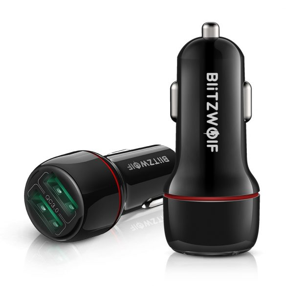 Nabíjačka do auta BlitzWolf® BW-SD5 25 W 2xQ3.0 s technológiou rýchleho nabíjania, LED osvetlenie