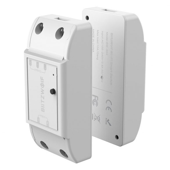 BlitzWolf® BW-SS4 WiFi Smart Dual Switch Controller Maximálne zaťaženie 2x10A, s ovládaním aplikácií, časovačom, hlasovým ovládaním