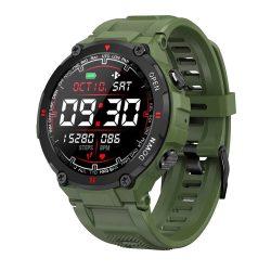 Zelená športové inteligentné hodinky Blitzwolf® BW-AT2 - 10 až 15 dní výdrže na batériu, 1,3-palcový IPS displej, nespočetné množstvo vstavaných funkcií
