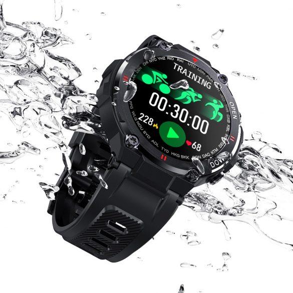 Smart watch Blitzwolf® BW-AT2C (čierna) so zabudovaným mikrofónom a reproduktorom s nespočetnými funkciami režimu činnosti
