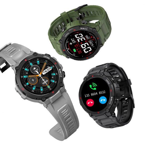 Smart watch Blitzwolf® BW-AT2C (zelená) so zabudovaným mikrofónom a reproduktorom s nespočetnými funkciami režimu činnosti