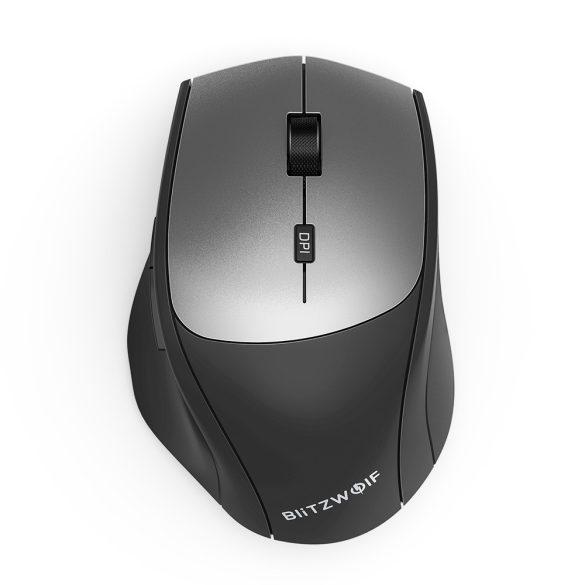 Bezdrôtová myš Blitzwolf BW-MO2 - bezdrôtová technológia 2,4 GHz, 2 400DPI - strieborná