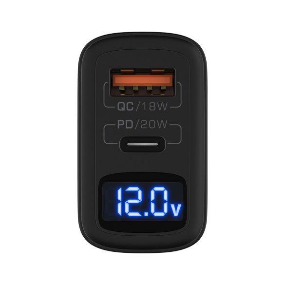 BlitzWolf® BW-S19 -  20W Quick Charge: 1xQC3.0 + 1xPD3.0, napájací adaptér (1x USB-C + 1x USB-A)