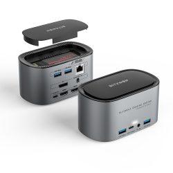 Blitzwolf BW-TH12 Hub 14 v jednom: SATA3.0, 4K HDMI, 4x USB 3.0 port, 3.5 Jack, port LAN
