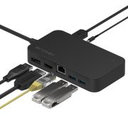 BlitzWolf® BW-TH7 7 v 1:  DC, USB, HDMI, Display, Jack, RJ45 porty