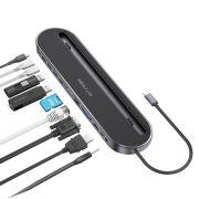 Dokovacia stanica Blitzwolf BW-TH9 12 v 1: port USB 3.0, čítačka kariet SD, HDMI, port VGA, nabíjací port USB C, RJ45, Jack