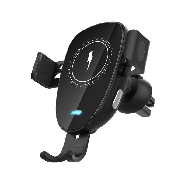 BlitzWolf® BW-CW2 - 15 W bezdrôtová rýchlonabíjačka + držiak do auta - pre všetky telefóny, ktoré podporujú bezdrôtové nabíjanie (štandard QI)